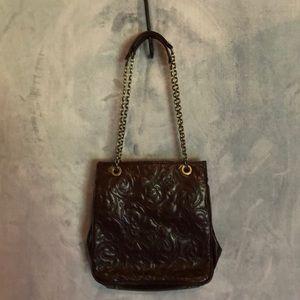 Small leather Hobo bag.
